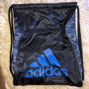 ADIDAS athletic drawstring  pack blue/black/NEW